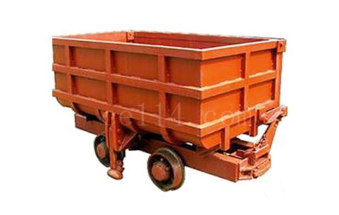 單側曲軌側卸式礦車