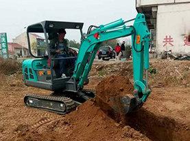 挖掘机施工