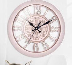 12寸挂钟时尚简约桃木北欧创意挂钟