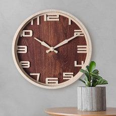 批发仿木纹挂钟