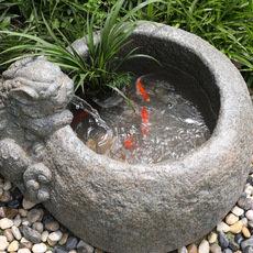 水磨坊客厅貔貅喷泉流水摆件 露台花园鱼池阳台鱼缸客厅装饰