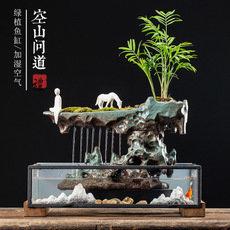 陶瓷流水喷泉鱼缸摆件
