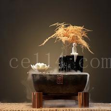 陶瓷禅意中式流水加湿喷泉创意加湿