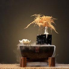 陶瓷禅意中式流水加湿喷泉创意加湿开业礼品风水客厅流水招财摆件