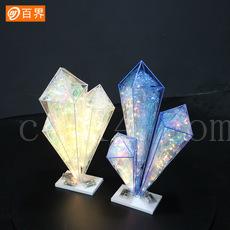 创意水晶柱摆件