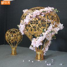 百界婚庆道具铁艺热气球摆件浪漫婚礼 舞台布置背景装饰吊顶挂件