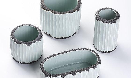 厂家直销多肉套装花盆陶瓷欧式时尚简约肉肉植物创意个性大小花盆