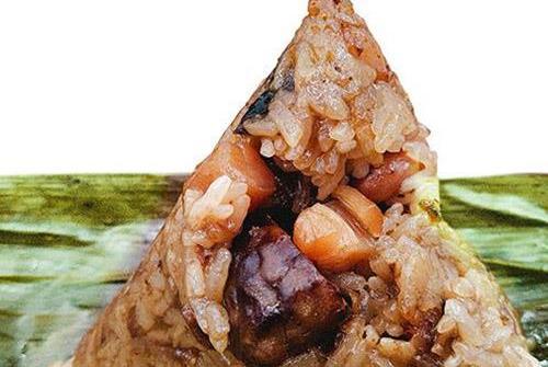 干贝烧肉粽
