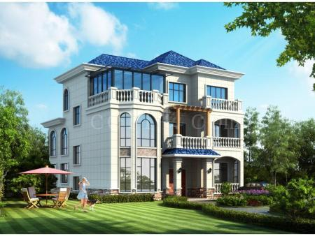 中式鋼結構別墅