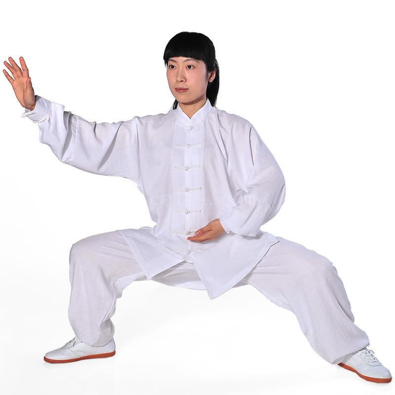棉麻锦中式中老年秋冬季太极服