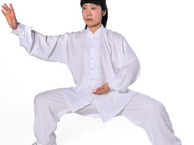 柏龄棉麻锦中式中老年秋冬季太极服女男练功服