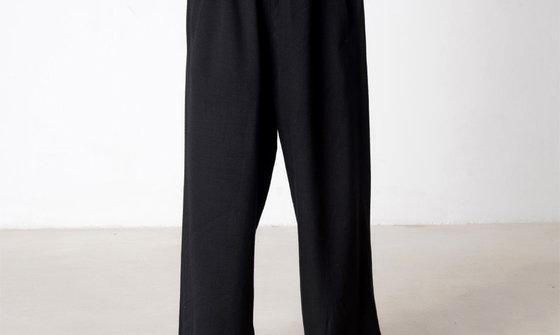 柏龄棉麻范灯笼裤太极裤 男女武术裤练功裤 宽松太极服装批发