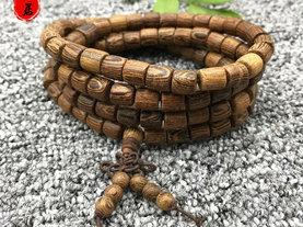 天然老料鸡翅木手串108颗桶珠手链念珠 0.8木质佛珠饰品 厂家批发