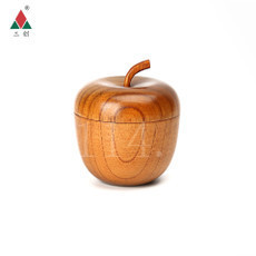木质创意实木苹果碗
