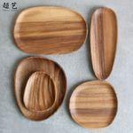 超艺不规则相思木盘子 异形实木零食点心果盘 黑胡桃木制盘子定制