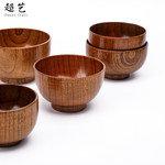 超艺防烫创意环保木碗 中式餐厅实木面碗 木质圆形木碗现货批发