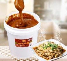 沙县花生酱 麻辣烫火锅蘸酱 小吃飘香拌面调味酱 9斤装 商用批发