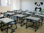 建晟家具制造HY-0336升降课桌椅出口品质
