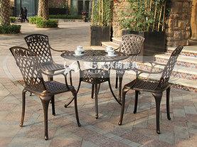 铸铝玫瑰休闲桌椅