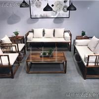 中式实木客厅组合沙发