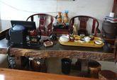 黑檀原木大板桌