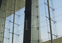 厦门建筑幕墙 大跨度单索点式幕墙
