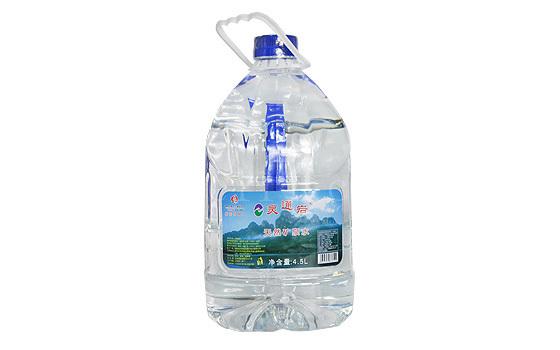 漳州矿泉水灵通岩手提式矿泉水(4.5升)