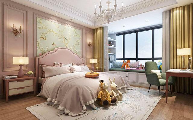 龙岩美式风格卧室装饰