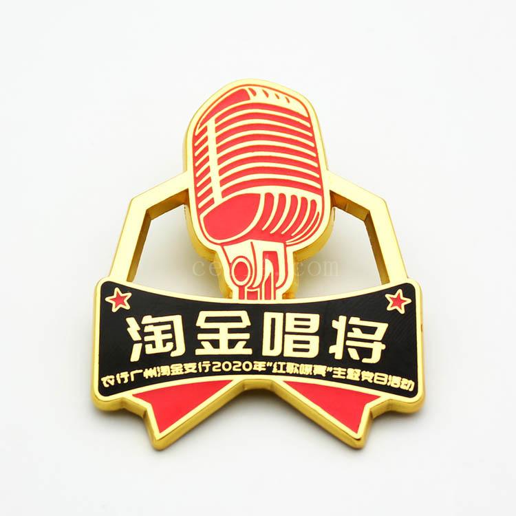 广东锌合金徽章定制