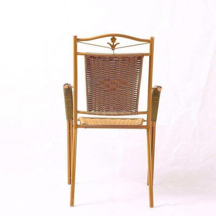 漳州龙海钢管双管休闲藤椅