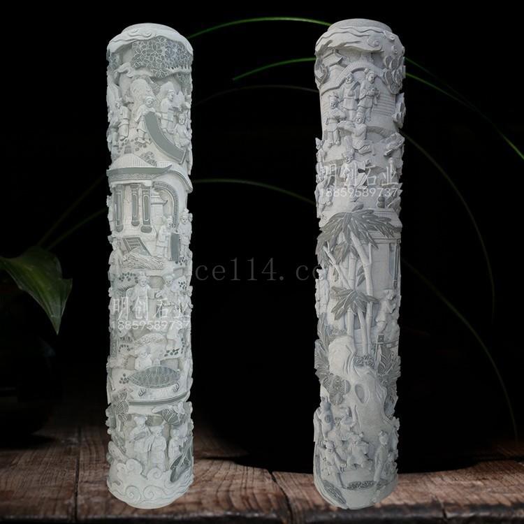 明创石业福建镂空石柱雕