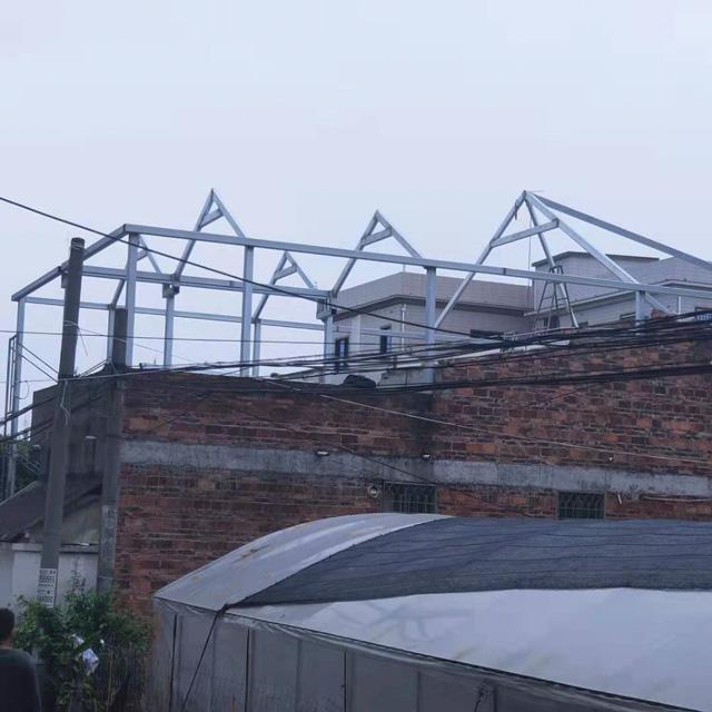 龙海钢结构琉璃瓦屋顶施工