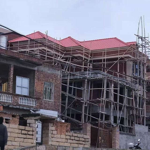 龙海钢结构琉璃瓦搭建