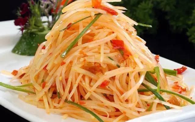 漳州素食主题餐厅凉拌土豆丝(漳州有名的素食馆)
