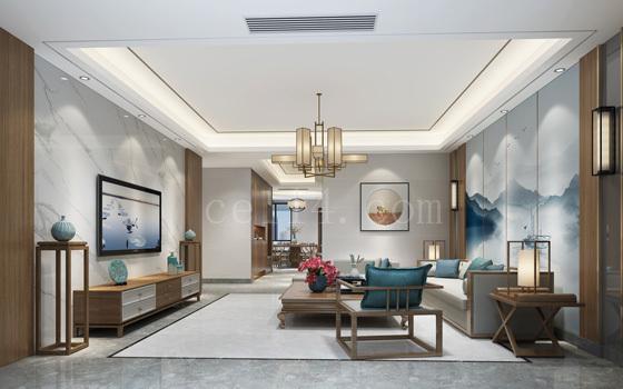 龙岩中式客厅设计