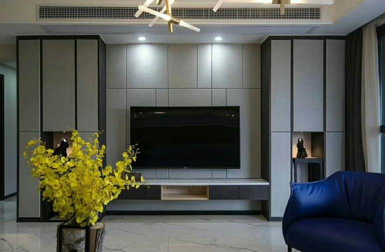 电视背景墙现代装修风格