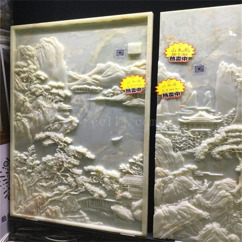 龙岩石材装饰工程 山水画浮雕
